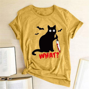 Black Cat What T-Shirt