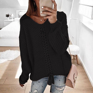 Women's Loose Panel Knit Sweaters
