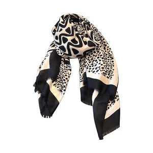 Leopard Cotton Viscose Scarf