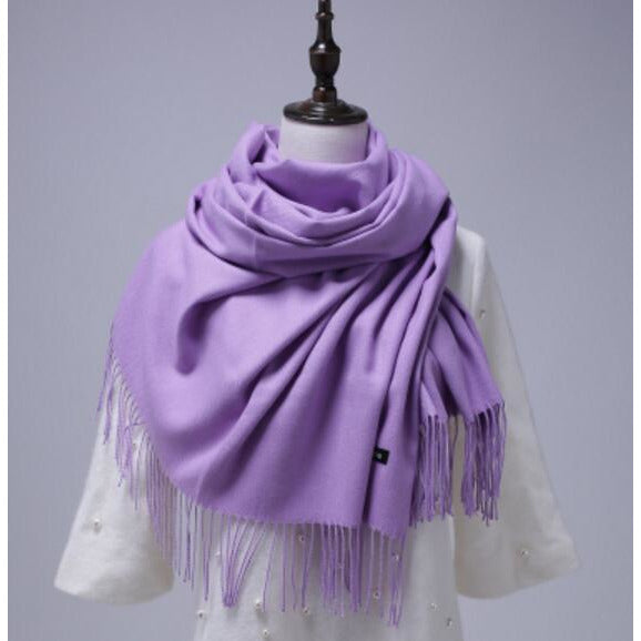 Solid Color Cashmere Shawl Scarves
