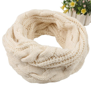 Warm Soft Cotton Ring Scarf