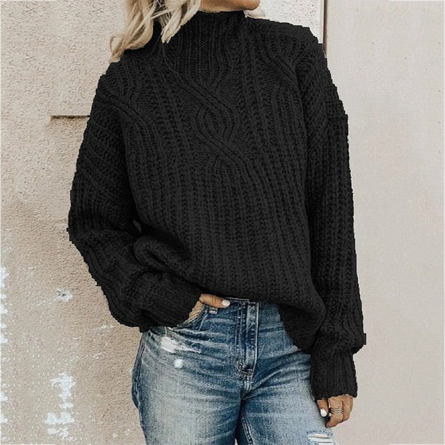 2020 New Women turtleneck Knit Pullover Sweaters