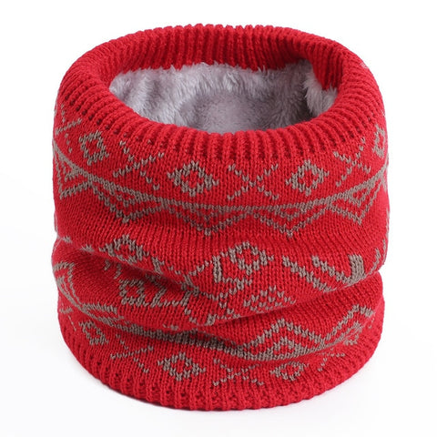 Snowflake Ring Bib Knitted Scarf