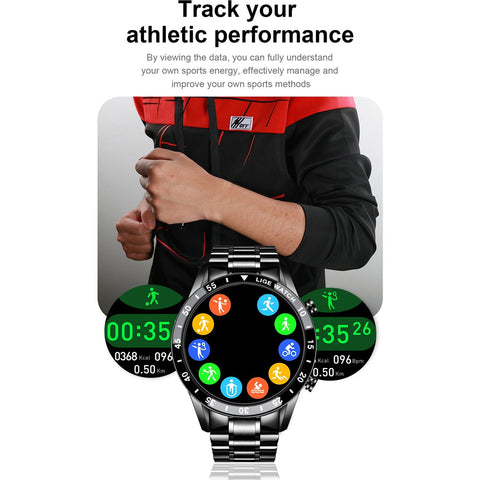Bluetooth Phone Smart Watch Waterproof Sports Fitness Watch Health Tracker Weather Display 2020 New smartwatch