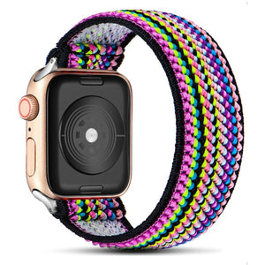 Scrunchie Strap for Apple watch band 40mm 38mm 44mm 42mm Bohemia Elastic belt solo loop bracelet iWatch series 3 4 5 se 6 band