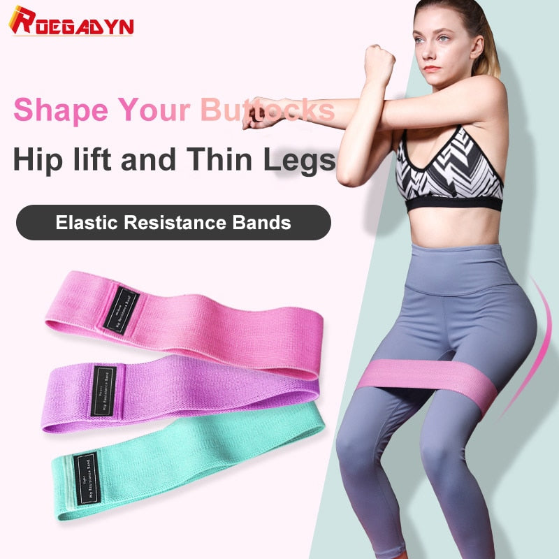 Colorful Pilates Rope Resistance Bands For Sports Crossfit Fabric Resistance Bands Set Gym Booty Hip Bands Strength Fitness