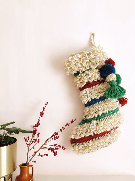 Loop Stitch Luxe Stocking - free crochet pattern