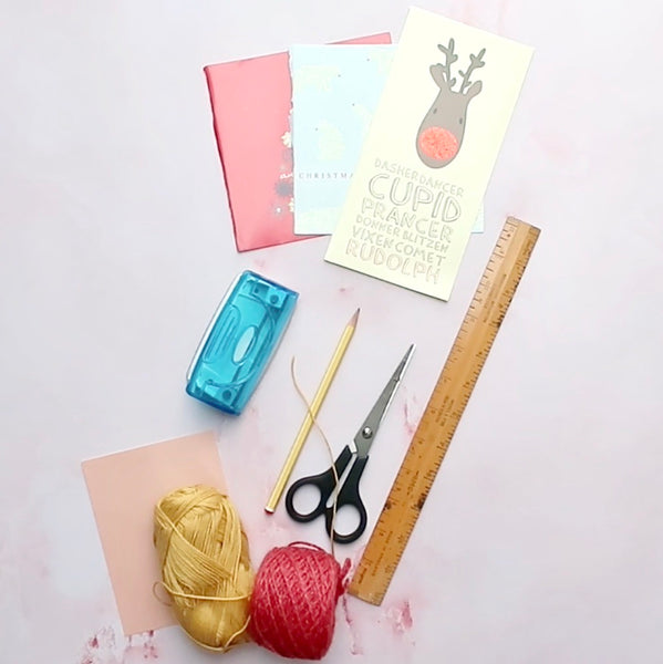 Christmas card bauble materials