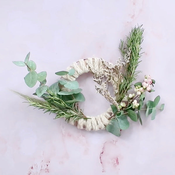 Foraged Christmas Plait Wreath