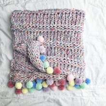 Load image into Gallery viewer, Knit Rainbow Blanket and Cushion Knitting Pattern