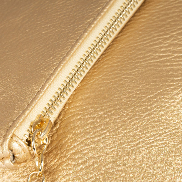Gold folded handbag, Clutch bags Collection
