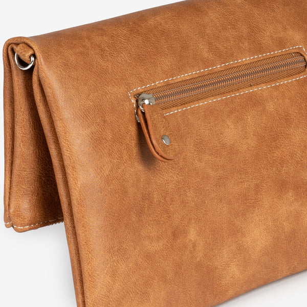 Light tan folded handbag, Clutch bags Collection