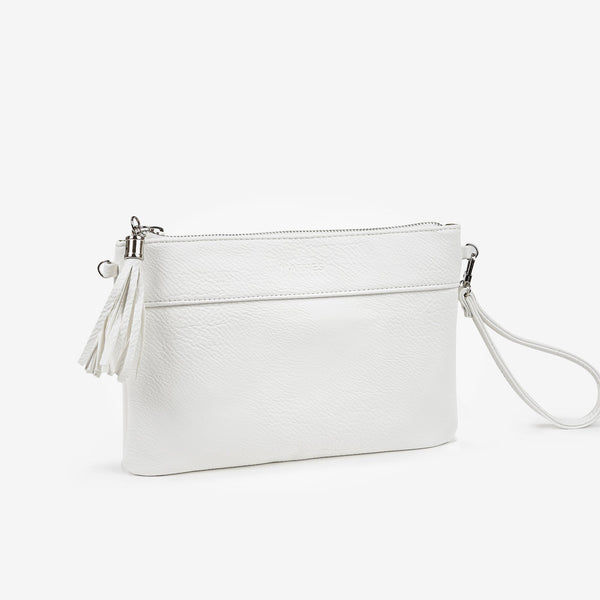 White handbag detachable shoulder strap, Clutch bags collection