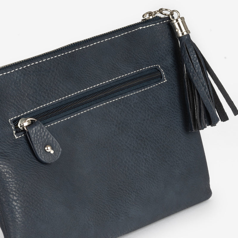 Blue handbag detachable shoulder strap, Clutch bags collection