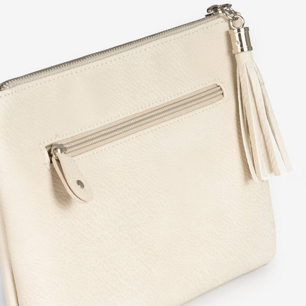 Beig handbag with detachable shoulder strap, Clutch bags collection