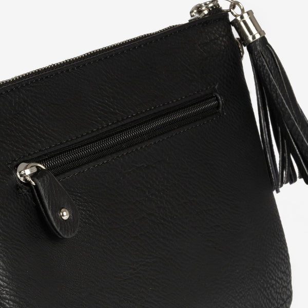 Black hand bag with detachable shoulder strap, Clutch bags collection