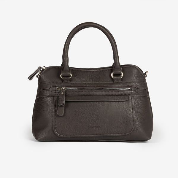 Dark brown handbag and Cross body bag, Seriola