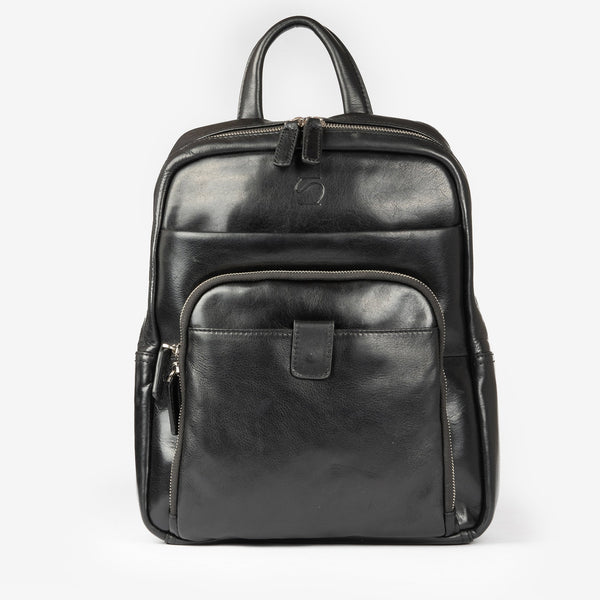 "Black leather backpack, Leather ""Casablanca"" Collection"