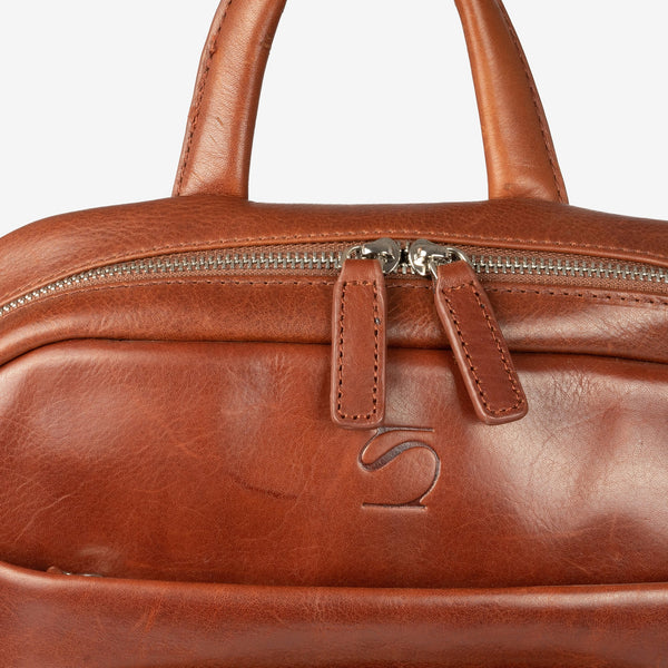 Tan leather backpack. Collection Casablanca leather