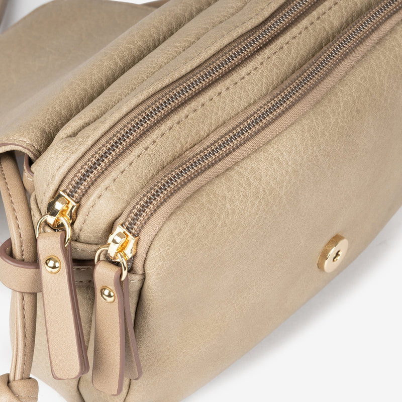 Taupe Cross body bag, Lichi Collection