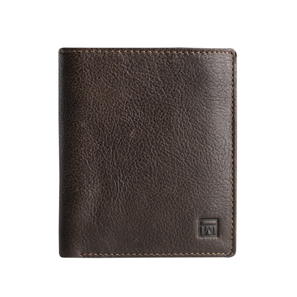 Brown wallet. Collection Wash leather