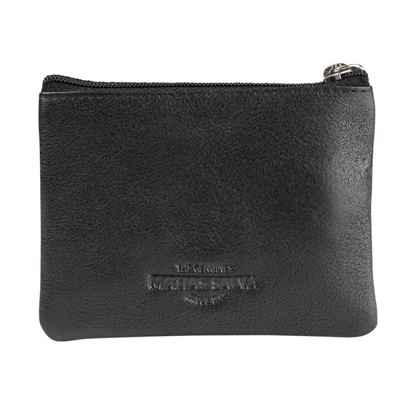 Black coin purse man. Collection Wash leather