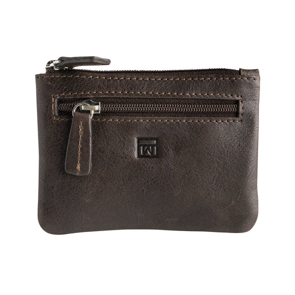 Brown coin purse man. Collection Wash leather