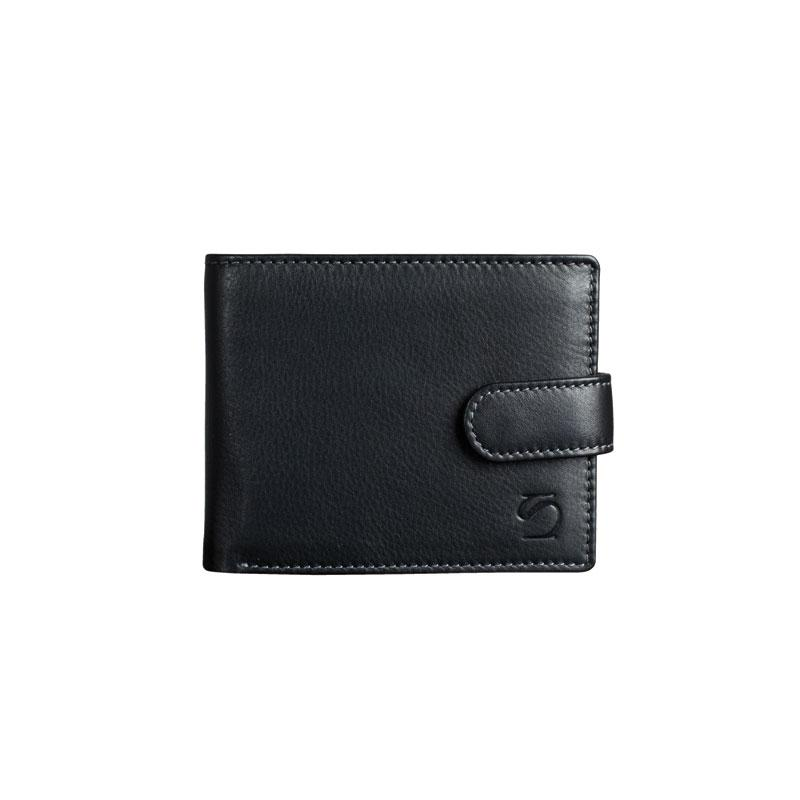 Billetero negro, Colección Exotic Leather