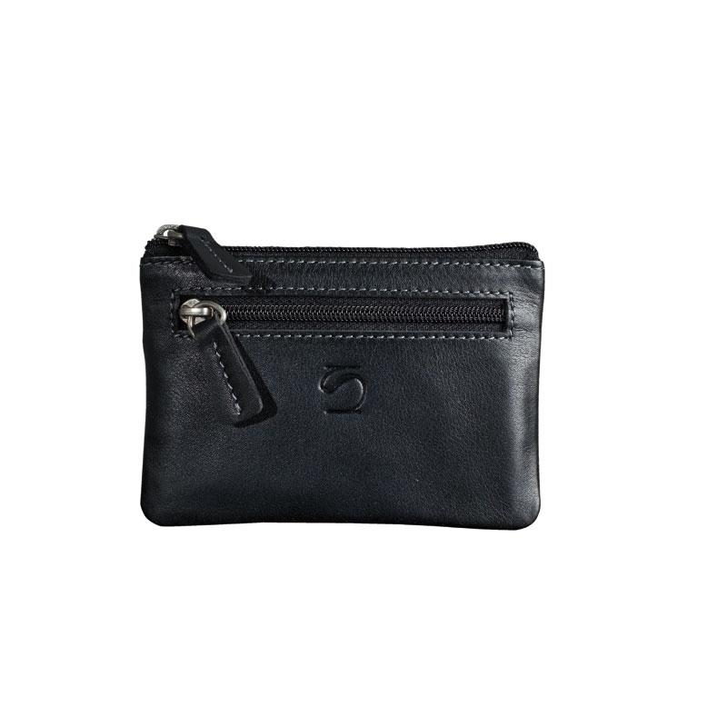 Black leather wallet, Exotic Collection