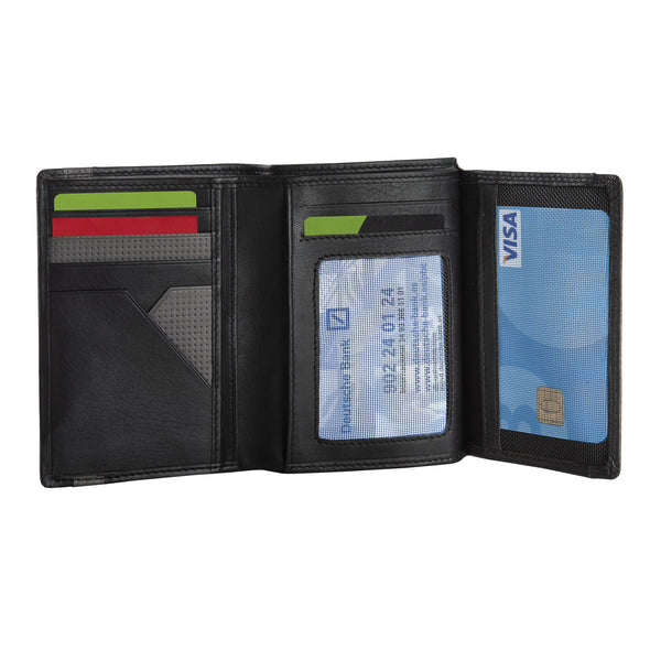 Black/grey leather wallet, Kenzo Collection