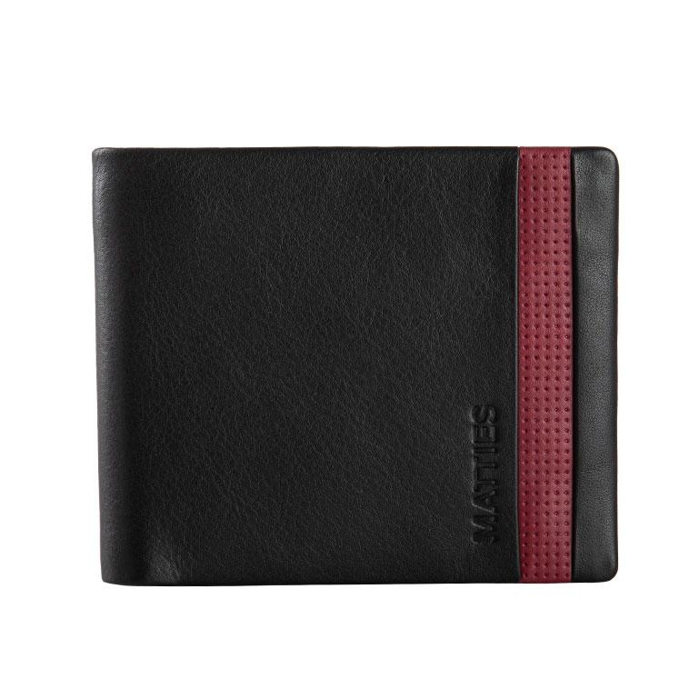 Black/burgundy leather wallet, Kenzo Collection