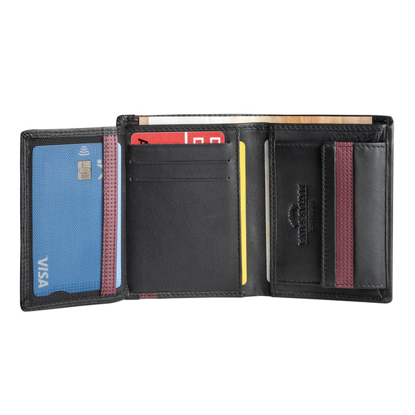 Black/burgundy wallet, Colección Kenzo Leather