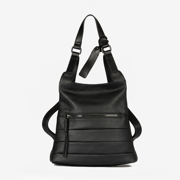 Black anti-theft Backpack, Alamo Collection