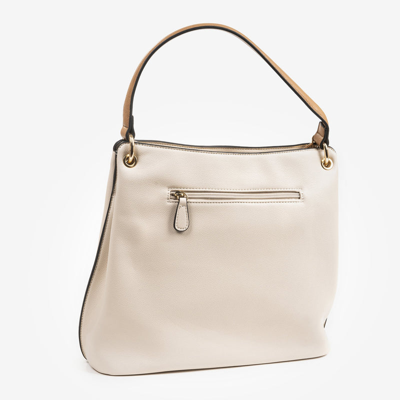 Bolso hobo color taupe, Serie Working