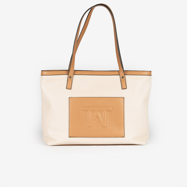 Bolso shopper color taupe, Serie Working