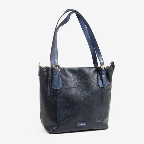 Bolso shopper color azul, Serie Waves