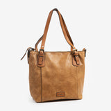 Bolso shopper color cuero, Serie Waves