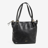 Bolso shopper color negro, Serie Waves