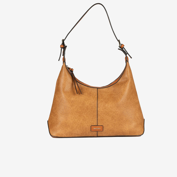 Bolso Hobo color cuero, Serie Waves