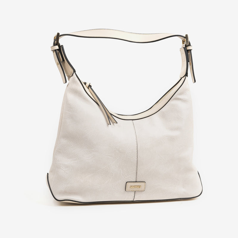 Bolso Hobo color beig, Serie Waves
