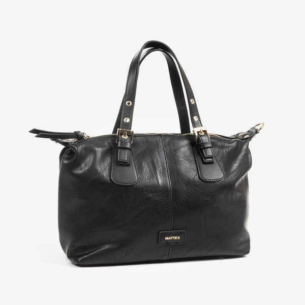 Bolso Bowling color negro, Serie Waves