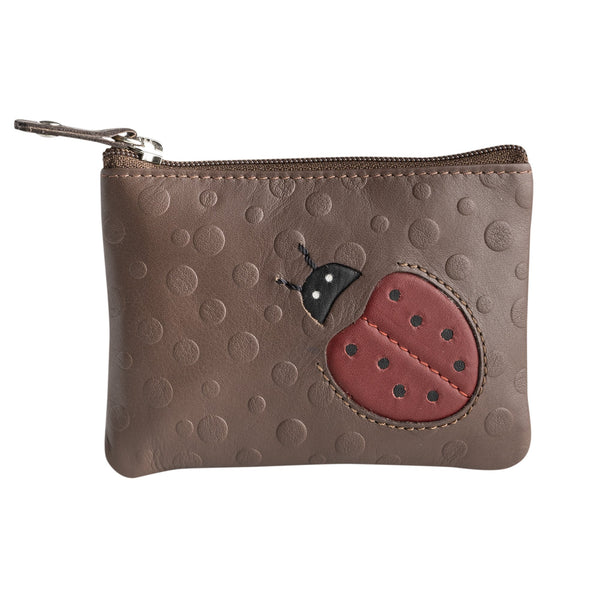 Brown coin purse man. Collection Lady Bug