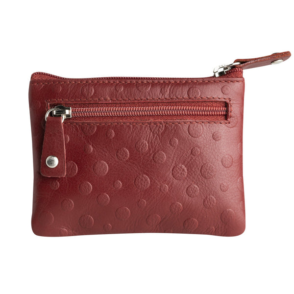 Red coin purse men. Collection Leaf Trebol