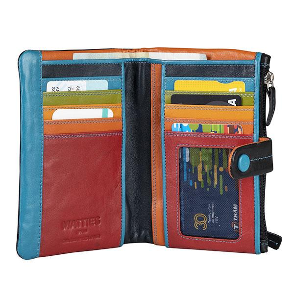 Leather woman purse, Multicolour Collection