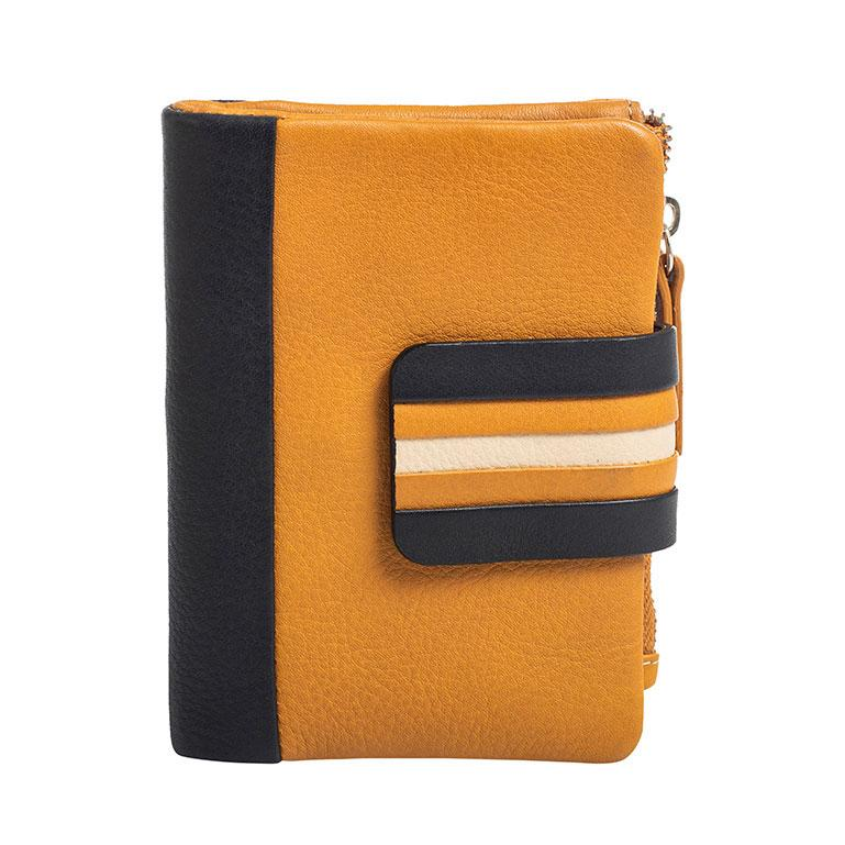 Mustard leather purse, Exotic Leather Collection