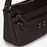 Dark brown cross body bag, Classic Collection