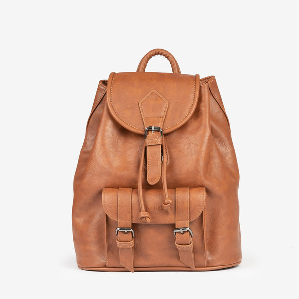 Tan unisex backpack