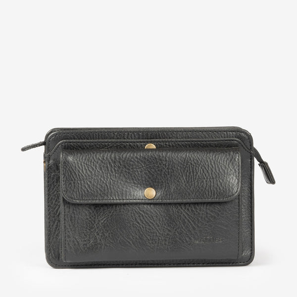 Black Toiletry bag, Gold Collection