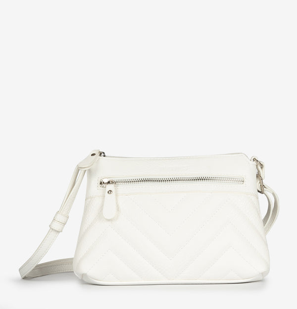 mini bolso blanco bandolera matties