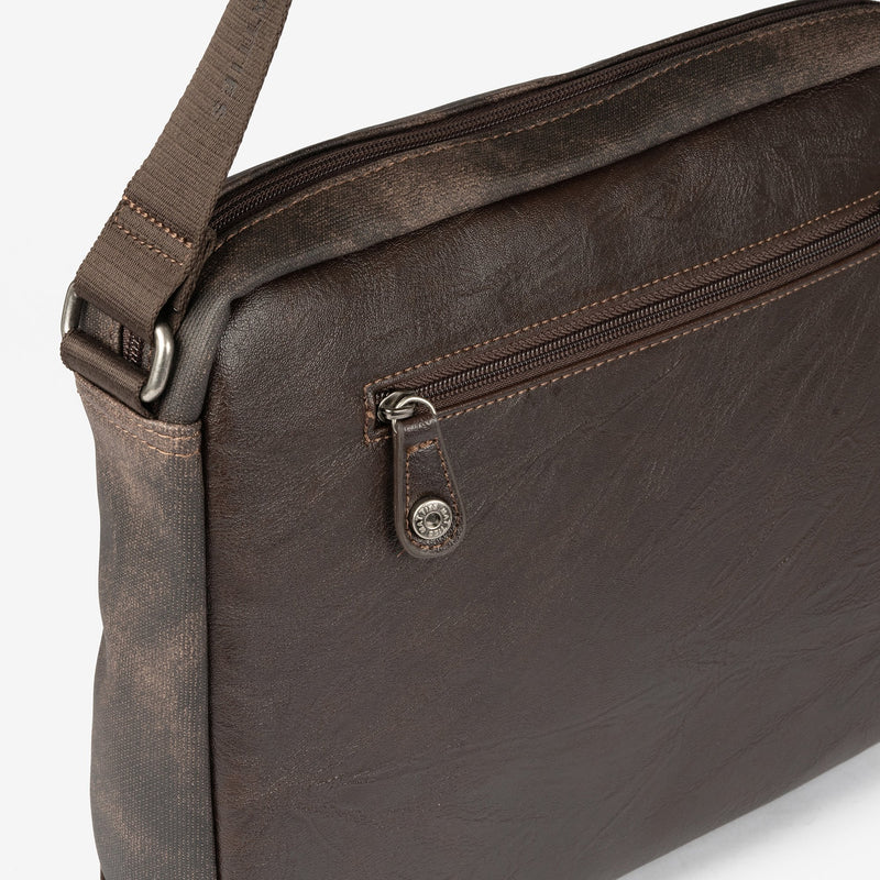 Dark brown cross body bag, Man bag Collection